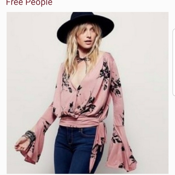 Free People rayon jersy top size medium